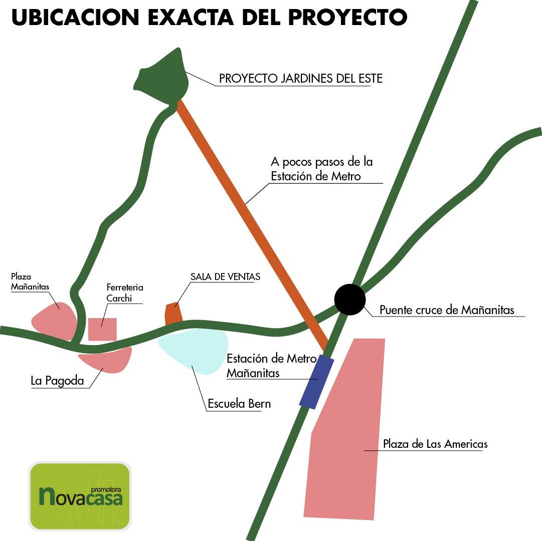 Proyectos de vivienda en Panamá Este Ubicación Exacta de Jardines del Este